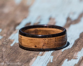Tennessee Whiskey Barrel and Ebony Wood Ring