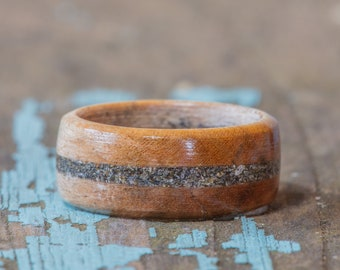 Maple Wood Ring With Your Sand Inlay