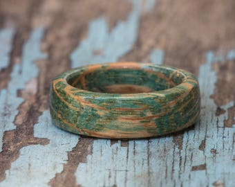 Aqua Blue Tennessee Whiskey Barrel Ring