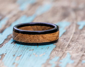 Kentucky Bourbon Barrel and Ebony Wood Ring