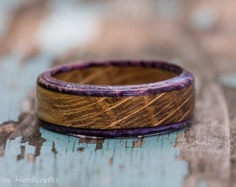 Purple Edged Whiskey Barrel Ring
