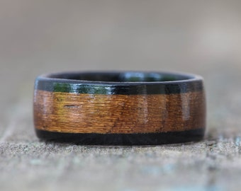 Teak and Ebony Wooden Ring