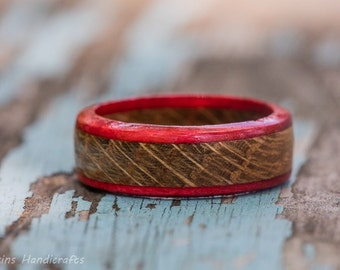 Red Edged Whiskey Barrel Ring
