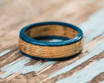 Blue Edged Tennessee Whiskey Barrel Ring