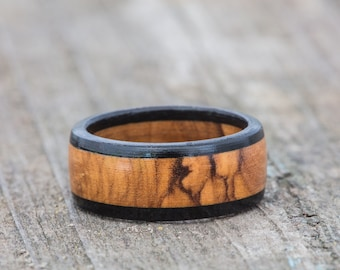 Bethlehem Olivewood and Ebony Ring
