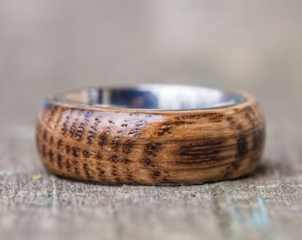 Tennessee Whiskey Barrel and Titanium Ring