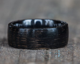 Black Tennessee Whiskey Barrel and Black Ceramic Ring