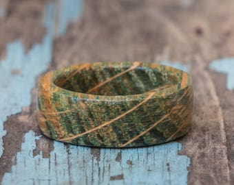 Green Tennessee Whiskey Barrel Ring