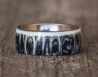 Black Shark Vertebra Titanium Ring