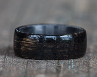 Black Tennessee Whiskey Barrel and Carbon Fiber Ring