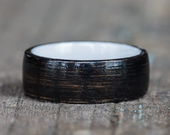 Black Tennessee Whiskey Barrel and White Ceramic Ring