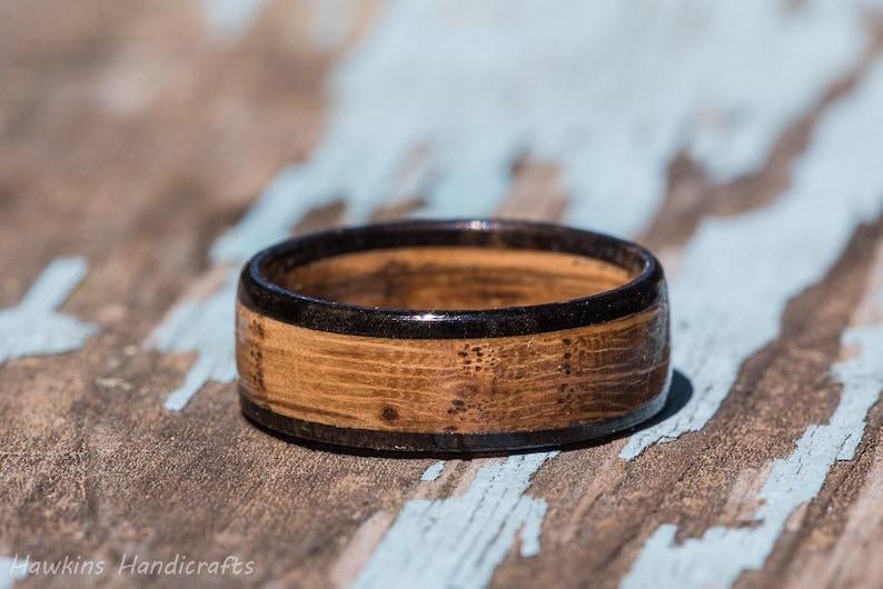 Tennessee Whiskey Barrel and Ebony Wood Ring  Whiskey Barrel image 0