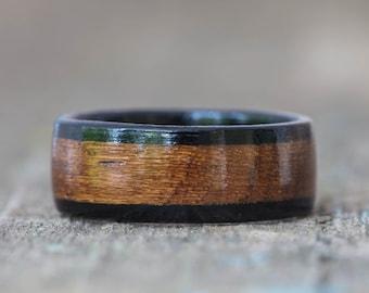 Teak and Ebony Wooden Ring