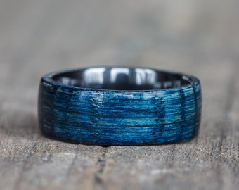 Blue Tennessee Whiskey Barrel and Black Ceramic Ring