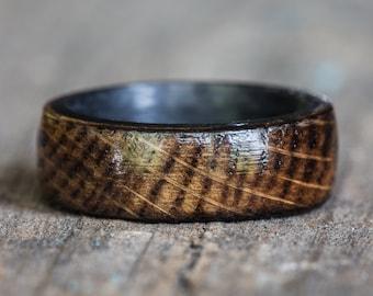 Carbon Fiber Kentucky Bourbon Barrel Wood Ring