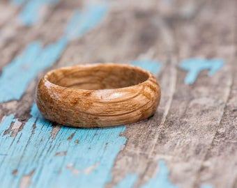 Bourbon Barrel Ring - Kentucky Bourbon Barrel Wood Ring Mens Wood Ring Mens Wedding Band Wood Anniversary Gift Womens Wooden Ring Groomsmen