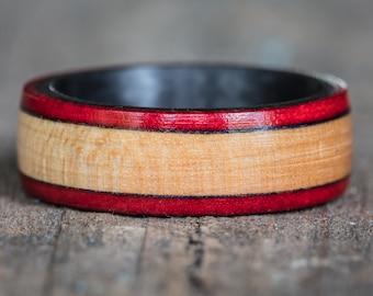 Chicago Bulls Basketball Floor Wood and Carbon Fiber Ring