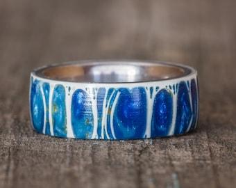 Blue Shark Vertebra Titanium Ring