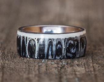 Black Shark Vertebra Titanium Ring