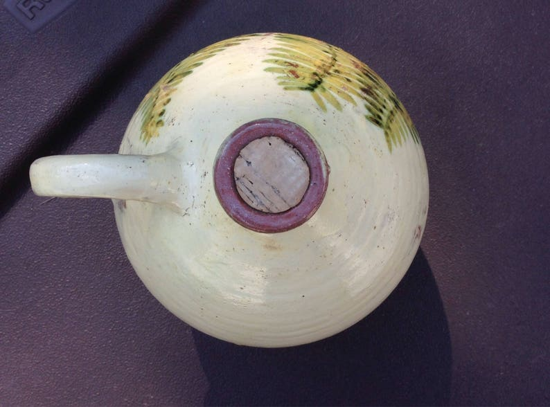Fern Leaves Art Jug by WickeyWicky Pottery 1980