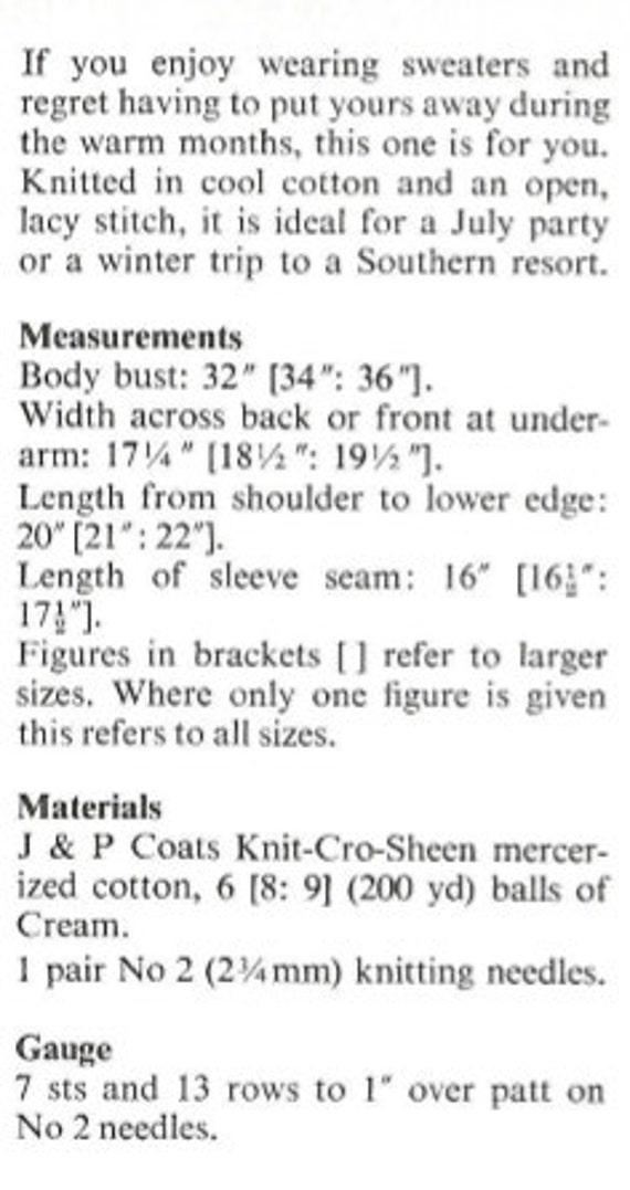 mujer punto jersey encaje abierto concepto Jersey manga larga   Etsy