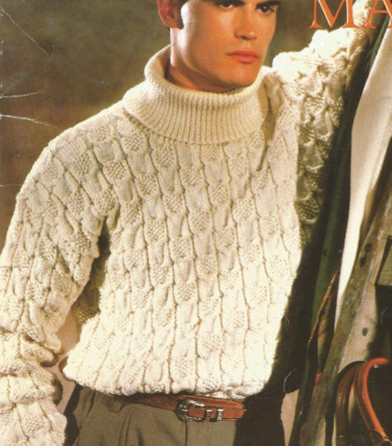d5fcff704 Mens Knit Sweater pullover turtle neck  OhhhMama  rolled