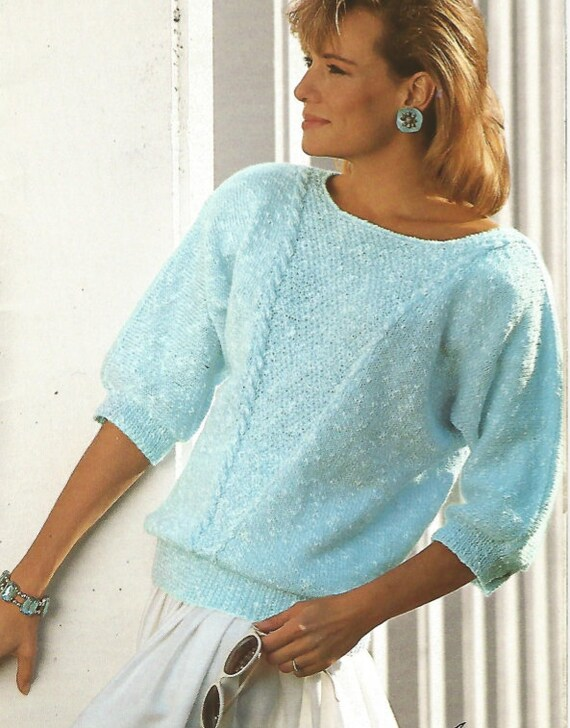 Stricken Pullover Womans Pdf/OhhhMama/3/4-Länge Ärmel | Etsy