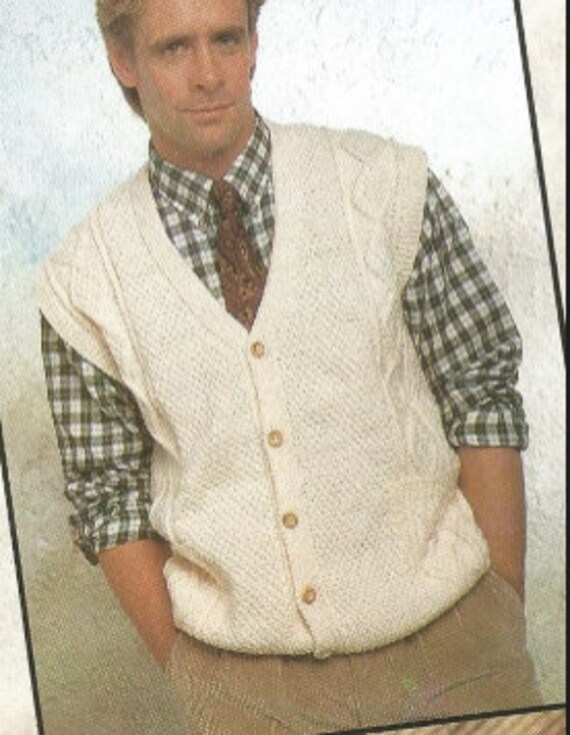 b9d79294f Knit Mens Sweater Vest pdf  OhhhMama  with buttoned front v