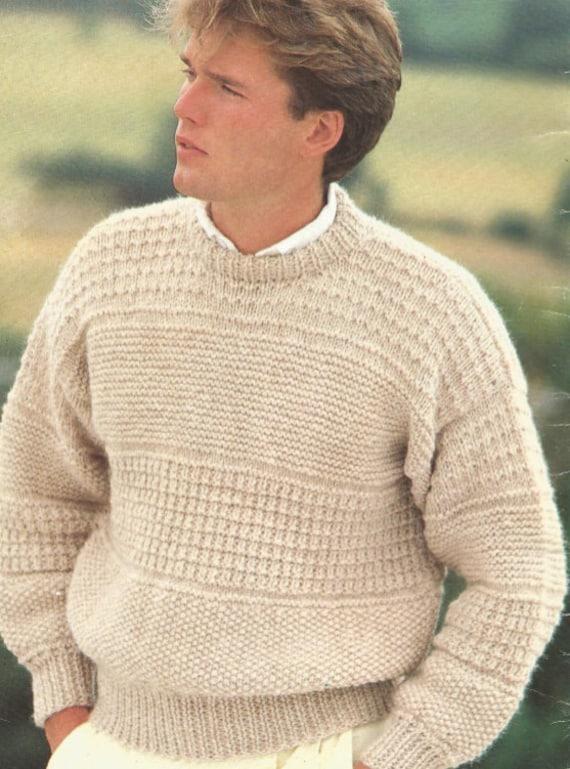 Stricken Sie Herren Pullover gemustert Pdf mit leicht Land | Etsy