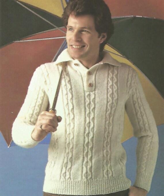 Mens stricken stricken Pullover Shirt Stil Kabel lange Ärmel | Etsy