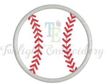 Baseball Applique Machine Embroidery Design 0005