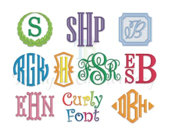 Embroidery Fonts Bundle Machine Embroidery Monogram Fonts Machine Embroidery Designs Multiple Sizes & Formats, BX Included, INSTANT DOWNLOAD
