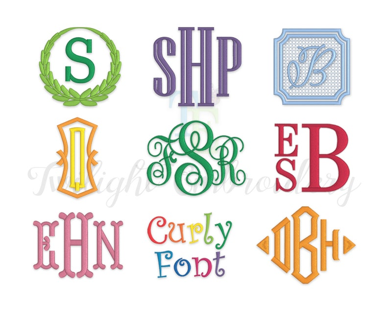 Embroidery Fonts Bundle Machine Embroidery Monogram Fonts image 0