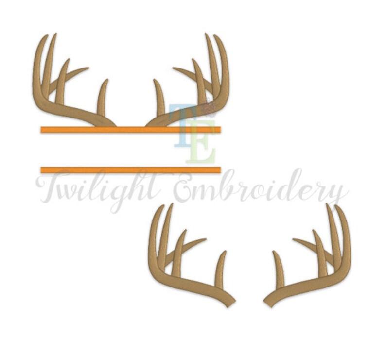 3c2d7af78e8cd Set of 2 Deer Antlers Machine Embroidery Designs Horns