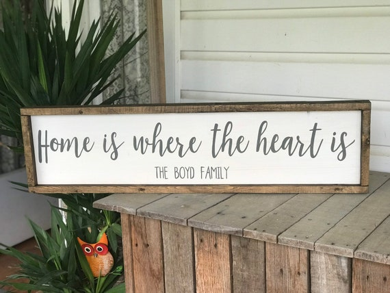 Home Is Where The Heart Is Country Home Decor Wood Sign Etsy,Best Wireless Charging Station For Apple Watch And Iphone