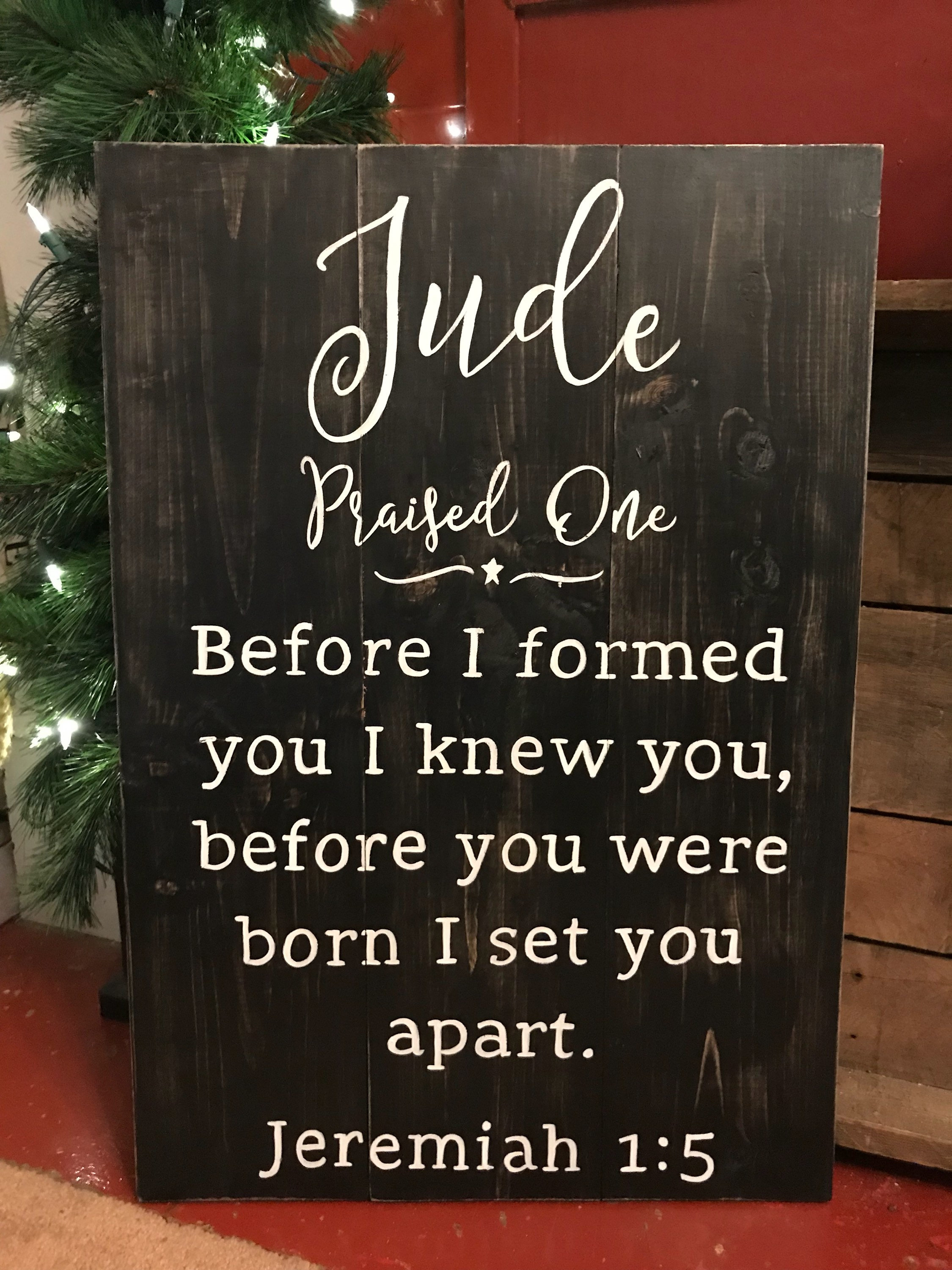 Before I formed you I knew you I set you apart | Etsy