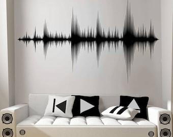 Wall Vinyl Sticker Decals Mural Note Music Sign Words Z020