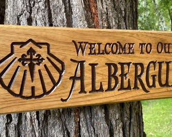 Albergue Sign with Shell #532