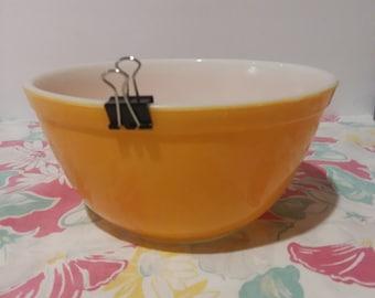 Mid Century Pyrex Pumpkin Mixing Bowl 1 1/2 Qt.