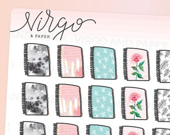 Spiral Planner Stickers - Hand Drawn Patterned Planner Doodles - Time to Plan Planner Stickers, Matte or Glossy RSP
