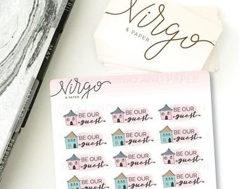 Be Our Guest - Hand Drawn Houseguests Planner Stickers - Doodle House, Home Planner Stickers - Matte, Glossy RHG