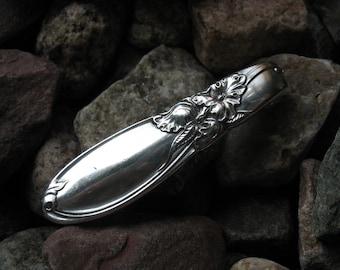 Native American Like Design Silverware Money Clip MC146 Western Skies Silver