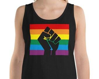 Gay Pride Flag Men/'s Sleeveless Muscle Tee T-Shirt WS-19239-2700