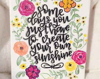 Floral Sunshine Canvas