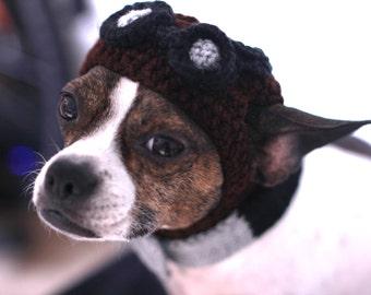 6e5b31cfa14 Aviator Dog Hat Cute Steampunk Dog Made to your order