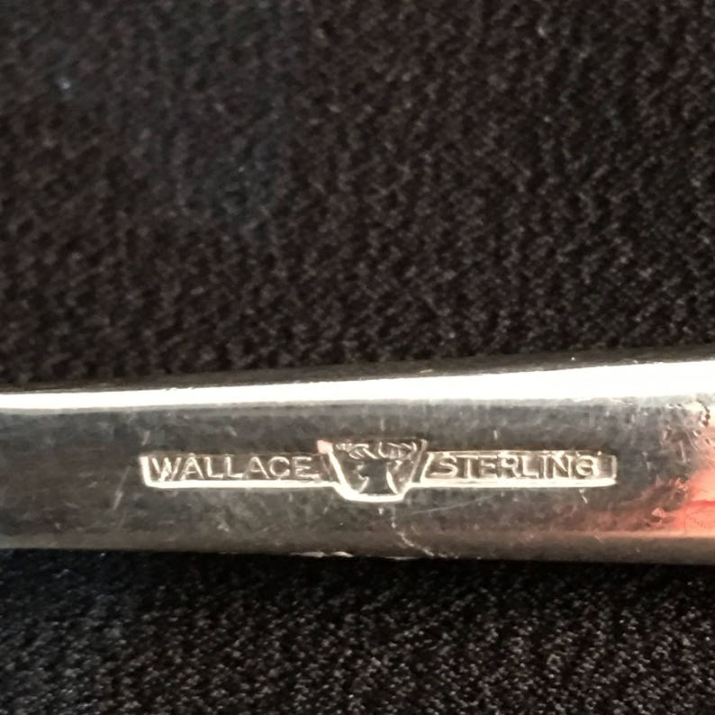 CP-0025 Wallace /& Sons Sterling Grande Baroque Pierced Table Serving Spoon