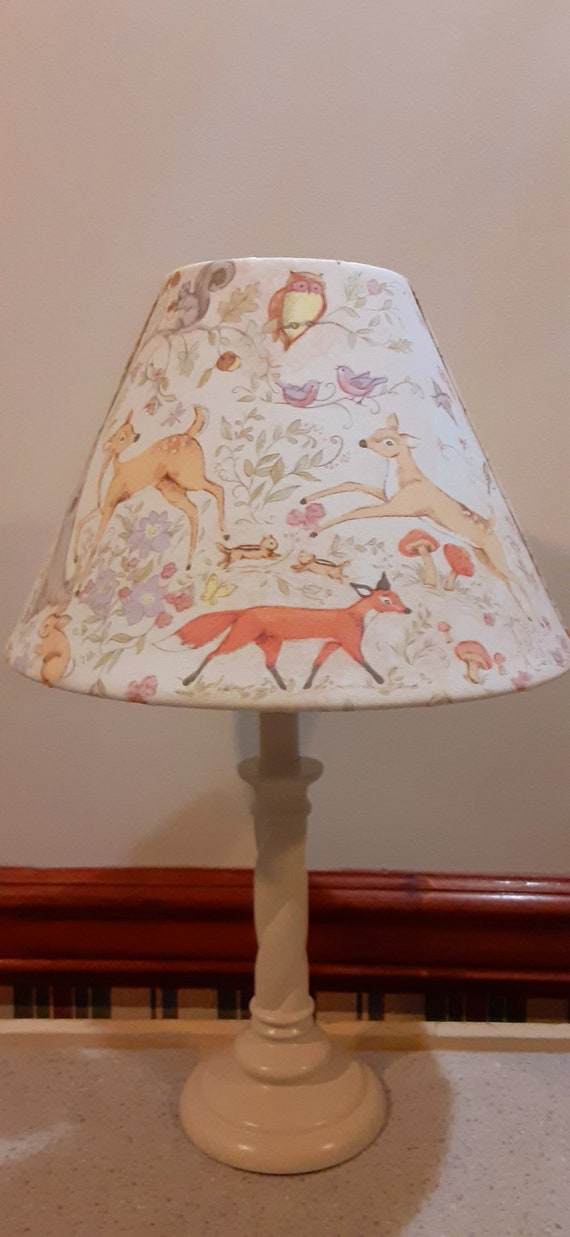 winter theme woodland baby lamp baby Christmas gift Woodland accentnursery lamp baby/'s first Christmas lamp deer cardinal lamp