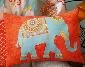 Elephant nursery pillow, elephant crib pillow, Nursery bedding, infant bedding, baby pillow and quilt , matching nursery decor, baby gift