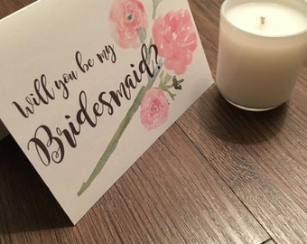 Bridesmaid Card - spring flower