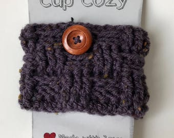 Cup cozy, cozy cup, coffee cozy sleeve for coffee (small basket grapes warm)